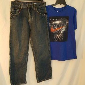 Boys Levi's Jeans & Nike T-Shirt Bundle